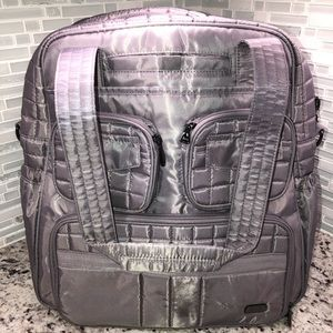Lug Puddle Jumper Overnight Gym Bag Gray Preowned
